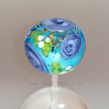 Purple Rose and aqua Globe1a