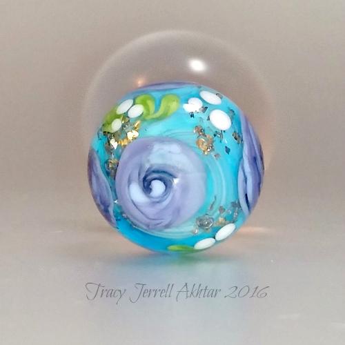 Purple Rose and aqua Globe3a