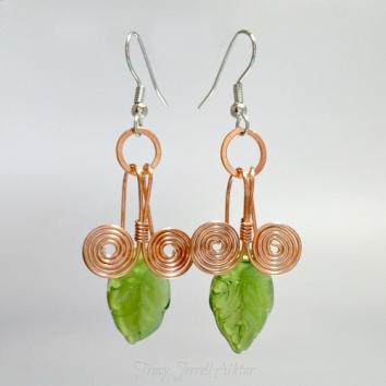 Earrings Leaf